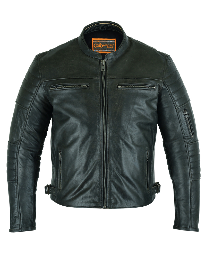 Mens Lightweight Drum Dyed Distressed Naked Lambskin